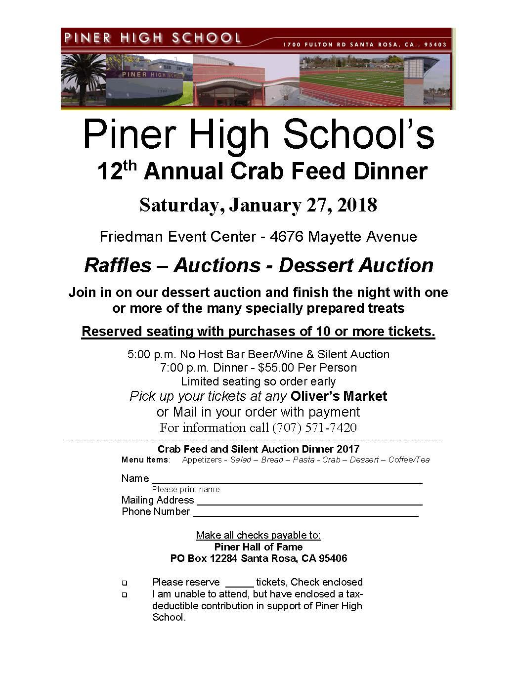 Crab Feed Flier 2018